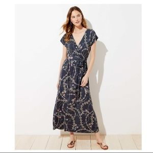 Flower Chain Wrap Maxi Dress